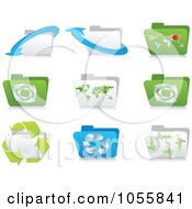 Royalty Free Vector Clip Art Illustration Of A Digital Collage Of Ecology Folder Icons