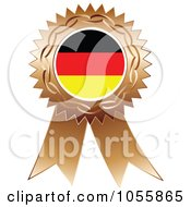 Royalty Free Vector Clip Art Illustration Of A Bronze Ribbon German Flag Medal by Andrei Marincas