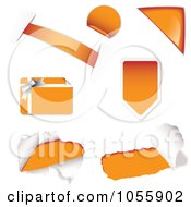 Royalty Free Vector Clip Art Illustration Of A Digital Collage Of Orange Design Elements by michaeltravers