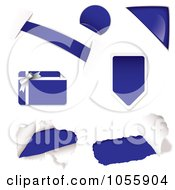 Royalty Free Vector Clip Art Illustration Of A Digital Collage Of Blue Design Elements