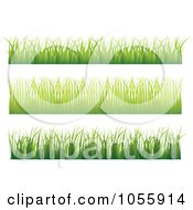 Royalty Free Vector Clip Art Illustration Of A Digital Collage Of Grass Borders