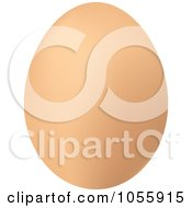 Royalty Free Vector Clip Art Illustration Of A Brown Chicken Egg