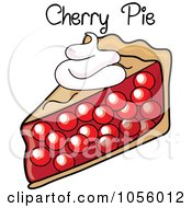 Royalty Free Vector Clip Art Illustration Of A Slice Of Cherry Pie With Text by Pams Clipart