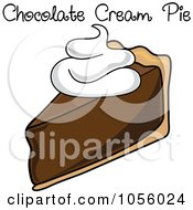 Royalty Free Vector Clip Art Illustration Of A Slice Of Chocolate Cream Pie With Text by Pams Clipart