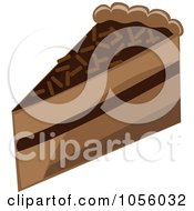Royalty Free Vector Clip Art Illustration Of A Chocolate Layer Cake Slice by Pams Clipart