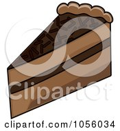 Royalty Free Vector Clip Art Illustration Of A Slice Of Chocolate Layer Cake by Pams Clipart