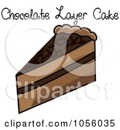 Royalty Free Vector Clip Art Illustration Of A Slice Of Chocolate Layer Cake With Text by Pams Clipart