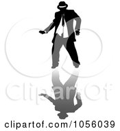 Royalty Free Vector Clip Art Illustration Of A Chubby Man Dancing 3