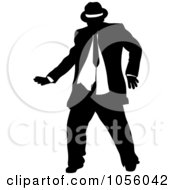 Royalty Free Vector Clip Art Illustration Of A Chubby Man Dancing 5