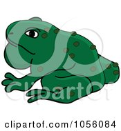 Royalty Free Vector Clip Art Illustration Of A Toad With A Pouch Of Air In His Throat