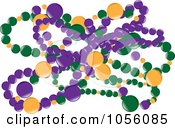 Royalty Free Vector Clip Art Illustration Of Green Purple And Yellow Mardi Gras Beads