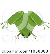 Royalty Free Vector Clip Art Illustration Of A Chubby Green Frog