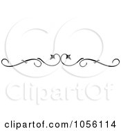 Royalty Free Vector Clip Art Illustration Of A Black And White Page Rule Or Divider Design Element 3