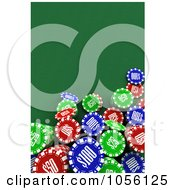 Royalty Free CGI Clip Art Illustration Of An Aerial View Down On 3d Poker Chips