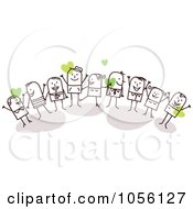 Royalty Free Vector Clip Art Illustration Of A Stick People Business Team