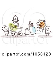 Royalty Free Vector Clip Art Illustration Of Stick Babies And Kids