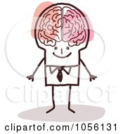 Royalty Free Vector Clip Art Illustration Of A Stick Man Genius by NL shop #COLLC1056131-0109