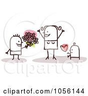 Royalty Free Vector Clip Art Illustration Of Children Greeting Their Mom On Mothers Day by NL shop