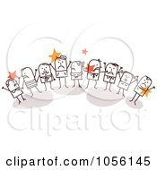 Royalty Free Vector Clip Art Illustration Of A Group Of Angry Stick People