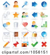 Royalty Free Vector Clip Art Illustration Of A Digital Collage Of Sticker Icons With Shadows by TA Images