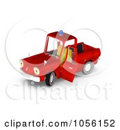 Royalty Free CGI Clip Art Illustration Of A 3d Red Fire Engine Truck Character