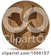 Royalty Free Vector Clip Art Illustration Of A 3d Wooden Thumbs Up Sphere Icon by Andrei Marincas