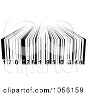 Royalty Free Vector Clip Art Illustration Of A Black And White 3d Bar Code by Andrei Marincas