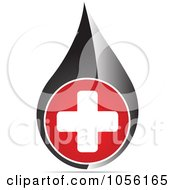 Royalty Free Vector Clip Art Illustration Of A Medical Cross Droplet by Andrei Marincas #COLLC1056165-0167