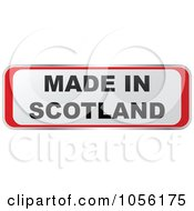 Royalty Free Vector Clip Art Illustration Of A Red And White MADE IN SCOTLAND Sticker