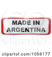 Royalty Free Vector Clip Art Illustration Of A Red And White MADE IN ARGENTINA Sticker