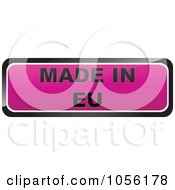 Royalty Free Vector Clip Art Illustration Of A Pink MADE IN EU Sticker