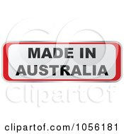 Royalty Free Vector Clip Art Illustration Of A Red And White MADE IN AUSTRALIA Sticker