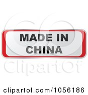 Royalty Free Vector Clip Art Illustration Of A Red And White MADE IN CHINA Sticker