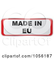 Royalty Free Vector Clip Art Illustration Of A White And Red MADE IN EU Sticker