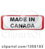 Royalty Free Vector Clip Art Illustration Of A Red And White MADE IN CANADA Sticker