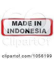 Royalty Free Vector Clip Art Illustration Of A Red And White MADE IN INDONESIA Sticker
