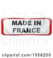 Royalty Free Vector Clip Art Illustration Of A Red And White MADE IN FRANCE Sticker