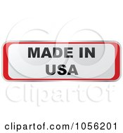 Royalty Free Vector Clip Art Illustration Of A Red And White MADE IN USA Sticker