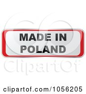 Royalty Free Vector Clip Art Illustration Of A Red And White MADE IN POLAND Sticker