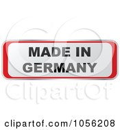 Royalty Free Vector Clip Art Illustration Of A Red And White MADE IN GERMANY Sticker by Andrei Marincas