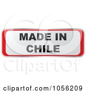 Royalty Free Vector Clip Art Illustration Of A Red And White MADE IN CHILE Sticker