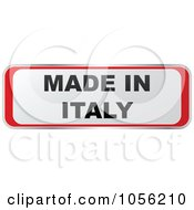 Royalty Free Vector Clip Art Illustration Of A Red And White MADE IN ITALY Sticker