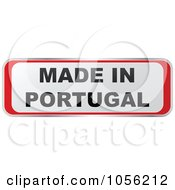 Royalty Free Vector Clip Art Illustration Of A Red And White MADE IN PORTUGAL Sticker