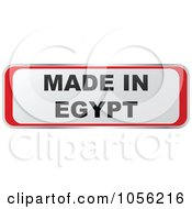 Royalty Free Vector Clip Art Illustration Of A Red And White MADE IN EGYPT Sticker