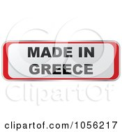 Royalty Free Vector Clip Art Illustration Of A Red And White MADE IN GREECE Sticker