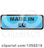 Royalty Free Vector Clip Art Illustration Of A Blue MADE IN EU Sticker