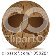 Royalty Free Vector Clip Art Illustration Of A 3d Wooden Live Chat Sphere Icon by Andrei Marincas