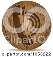 Royalty Free Vector Clip Art Illustration Of A 3d Wooden Telephone Sphere Icon by Andrei Marincas
