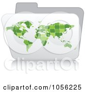 Royalty Free Vector Clip Art Illustration Of A White 3d Atlas Folder by Andrei Marincas