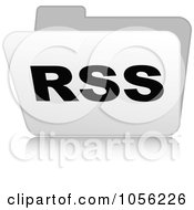 Royalty Free Vector Clip Art Illustration Of A White 3d Rss Folder 2 by Andrei Marincas